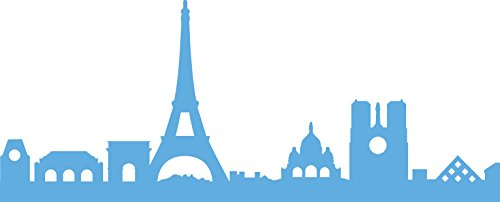 Marianne Design Creatable Horizon met skyline van Parijs - Stanssjabloon en stempelsjabloon voor het ontwerpen van kaarten en scrapbooking, metaal, blauw, 13 x 5.3 x 0,4 cm