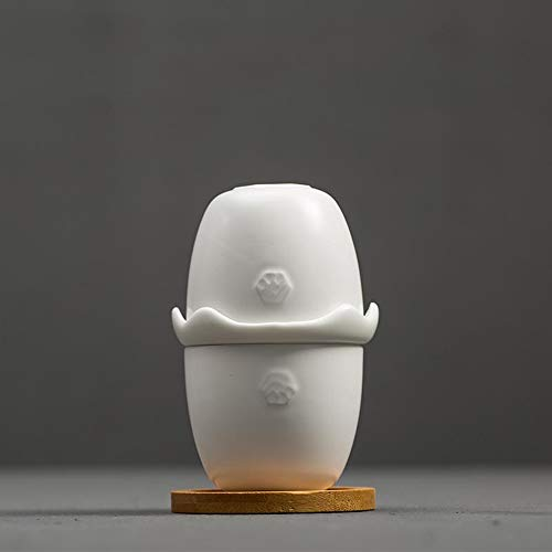 QCCOKNN - Juego de té de viaje, jarra de cristal, fácil de hervidor de agua, taza de té, taza de cerámica para bebidas