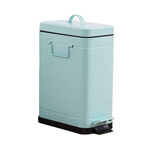 Vuilnisbak dempen, emmer opbergen/pedaal/aanraken/Met omslag/Milieuvriendelijk/Kunststof/Retro/Recycling Bins
