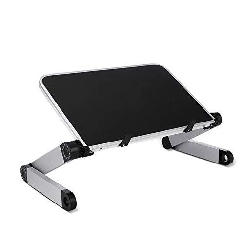 OBanShiCh - Soporte para ordenador portátil, universal, 360 grados, de aleación de aluminio, color negro, diseñado para la casa o la oficina