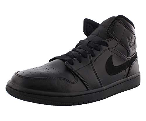 Nike Air Jordan 1 Mid Chicago Retro Black Gym Red Rosso Nero Bianca 554724 069 (Numeric_42_Point_5)