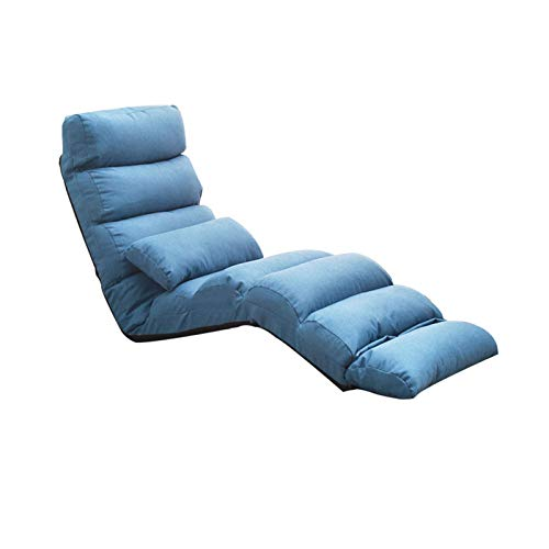 X-LSWAB Folding Lazy Chaise Lounge Recliner Relax Chair Stylish Lazy Sofa Couch Beds Sleeper Lounge Chair Modern Home Furniture Suitable for Bedroom Living Room Lounge (Color : J)