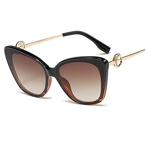 ShZyywrl Gafas De Sol De Moda Unisex Moda Ojo De Gato Gafas De Sol Hombres Mujeres Personalidad Retro Vintage Negro Elegante Gafas De Sol Mujer Uv400 Gafas 2