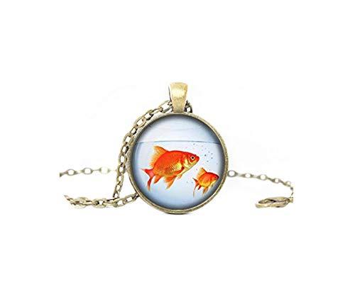 heng yuan tian cheng Aquarium sieraden, vis in een kom hanger, vis dier Aquarium ketting