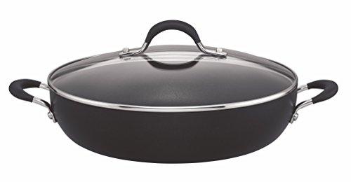 Circulon 84202 - Momentum - Hard Anodised Shallow Casserole Dish - Total Non Stick - Induction Suitable - 30 cm, Black