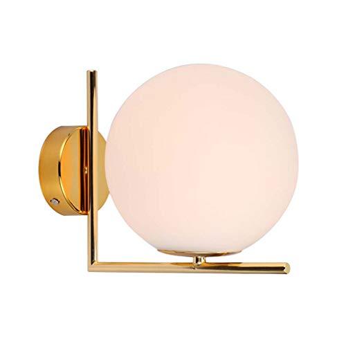 Glazen wandlamp, moderne eenvoudige en stijlvolle bol wandlamp, woonkamer eetkamer slaapkamer Aisle Bar decoratief verlicht licht licht