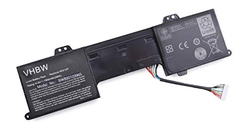 Batterie Li-ION 1950mAh (14,8 V) pour Dell Inspiron Duo 1090, Inspiron Duo Convertible. Remplace 9YXN1, CN-09YXN1, TR2F1, WW12P.