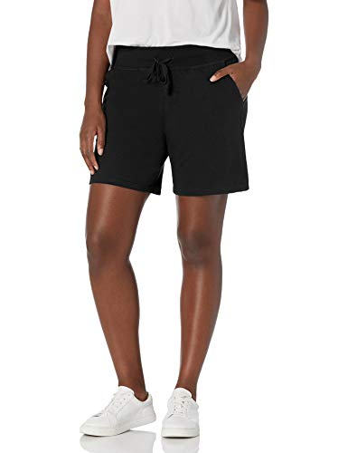 Hanes Women's Jersey Short, Black, Medium