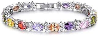 Europe Style 18K Gold Plating Rhinestone Buckle Bracelet For Women