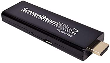 ScreenBeam (Previously Actiontec) Mini2 Wireless Display Adapter/Receiver with Miracast (SBWD60A01) – Mirror Phone/Tablet/Laptop to HDTV, No Apps Required, Supports Select Android & Windows Devices , Black
