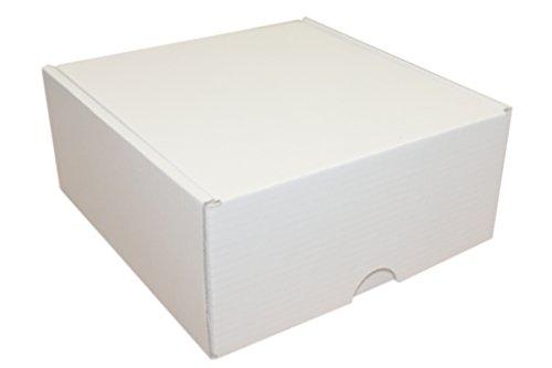 10er Pack Faltschachteln/Faltkarton/Stanzverpackung/Geschenkbox/Versandkarton weiß 146 x 160 x 68 mm