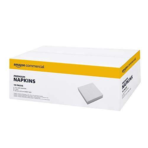 AmazonCommercial Reine Cellulose Papier Servietten, 32.5 * 29 cm - 10 Packungen, 5000 Blatt