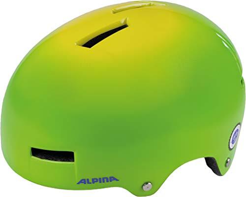 ALPINA AIRTIME Fahrradhelm, Unisex– Erwachsene, green spot, 52-57
