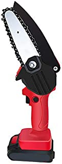 Mini Cordless Chainsaw, 24V 4 Inchs One-Hand Electric Chainsaw for Firewood Pruning and Logging 2X Battery