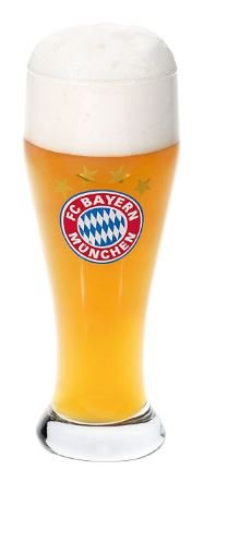 FC Bayern München FCB Weißbierglas, Bierglas 0,5 L (1 Glas)