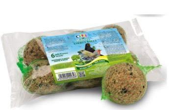 Palline di Grasso, Cereali E Semi per Gli Uccelli Liberi dei PARCHI E dei Giardini Confezione da 6 Palline