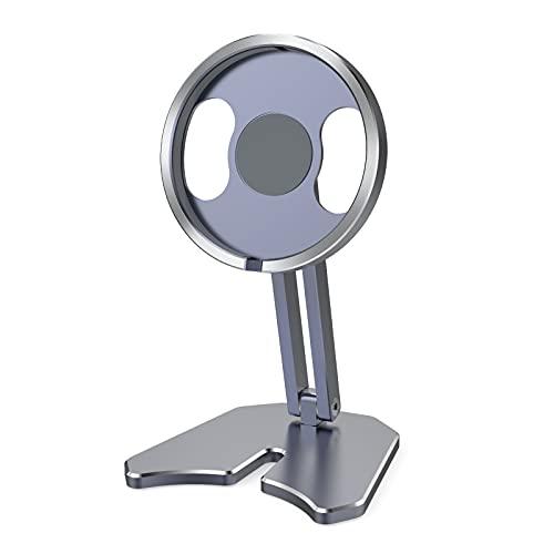 Soporte Movil TeléFono De Sobremesa De Carga InaláMbrica Plegable PortáTil MagnéTico Adecuado para Magsafe iPhone 12,Grey