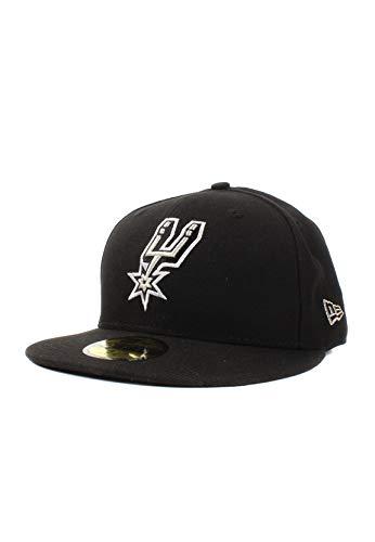 New Era NBA Team Classic Saaspu OTC - Gorra Línea San Antonio Spurs para Hombre, Color Negro, Talla 7 1/8