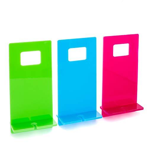 tuuli Accessories Soporte Teléfono Movil Pared Enchufe Smartphone Celulares y Tabletas Universal Plexiglás (Azul)