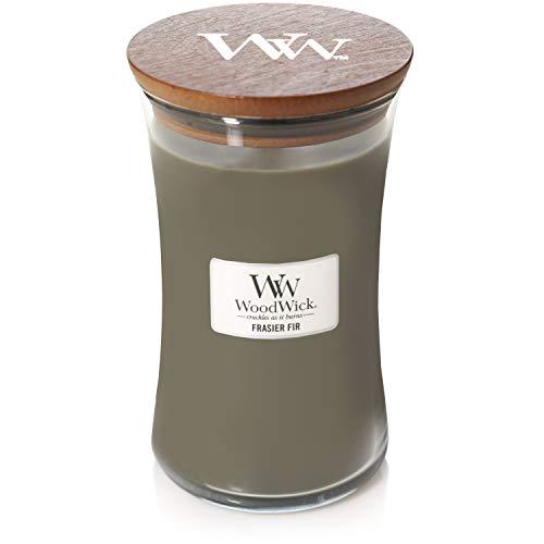 Woodwick, glazen kaars, 625 ml, babypoeder, brandduur 180 uur