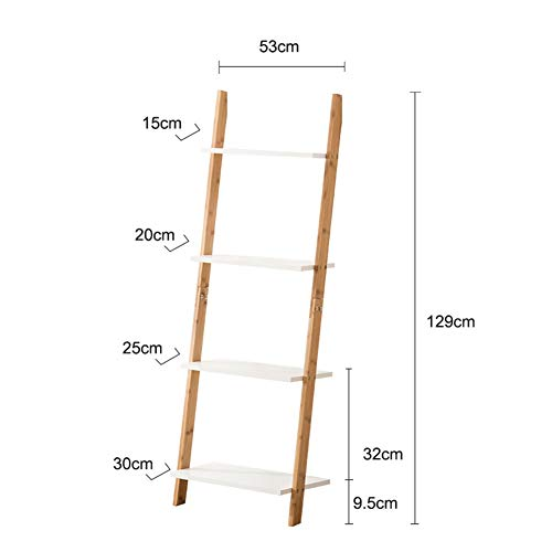 ALGWXQ Bamboo Flower Stand Multifunctionele Indoor opslag Rack Goederen Display Stand, 7 Specificaties (Color : Natural, Size : 53X129cm)