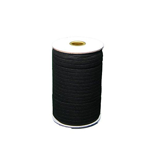 Braided Elastic 1/4'' Wide 144 Yards - Black