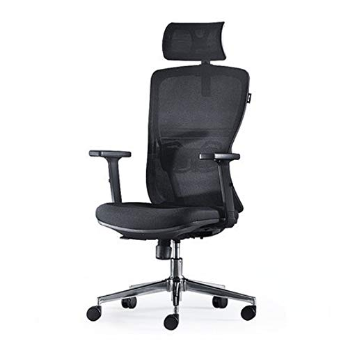 KUKU An Ergonomically Adjustable Office Chair, A Rotatable And Height-Adjustable Work Chair, A Comfortable Recliner with A Breathable Mesh Backrest
