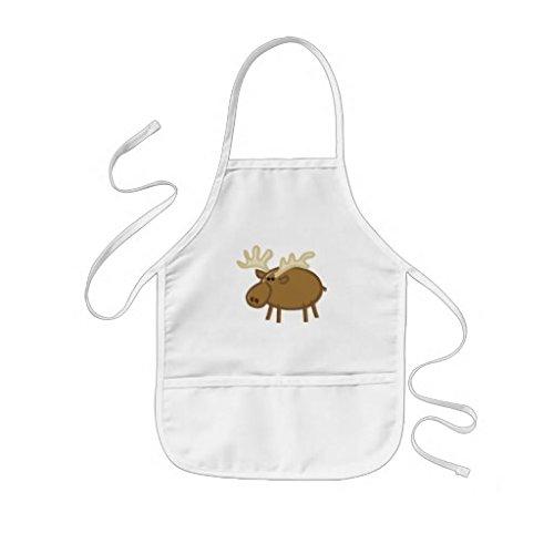 tr73ans grappige eland rendier op wit kinderen schort