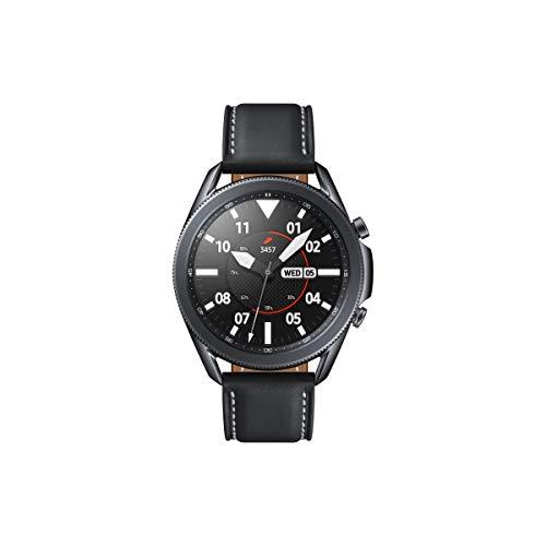 Samsung Galaxy Watch3, runde Bluetooth Smartwatch für Android, drehbare Lünette, Fitnessuhr, Fitness-Tracker, großes Display, 45 mm, schwarz