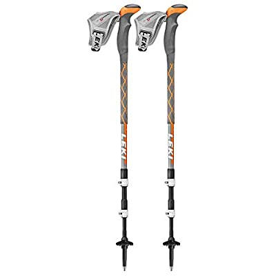Leki Thermolite XL V Trekking Poles - Grey/Orange