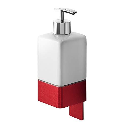 GFD Dispensador de jabón de baño autoadhesivo de 3M, uso en la pared de aluminio de la pared del espacio de la emulsión del sostenedor de la botella, bomba antideslizante de la loción del fregadero, l