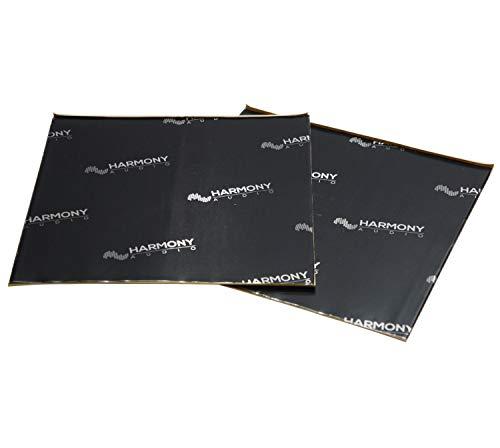 "Harmony Audio HA-SDSK Car Truck SUV Sound Damping Dampening Deadening (2) Mat 10"" x 10"" Sheets Speaker Install Kit"