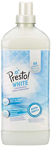 Marca Amazon - Presto! Suavizante concentrado blanco, 360 lavados (6 Packs, 60 cada uno)
