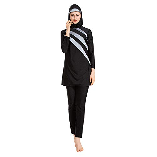 Xingsiyue 3 Piezas Traje de Baño Musulmán Burkini Hijab Moda Islámica Traje de Baño Mujeres Cubierta Completa Ropa de Playa