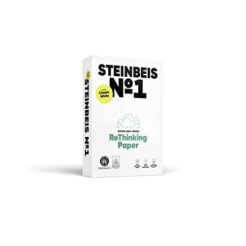 Steinbeis Nr. 1 ClassicWhite, Reprografisches Papier, 100 % recycelt, natürliche Farbe, 80 g, A4, blauer Engel, 500 Blatt