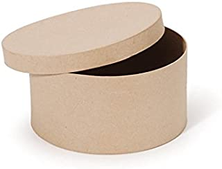 Paper Mache Box - Round - 8 x 4 in