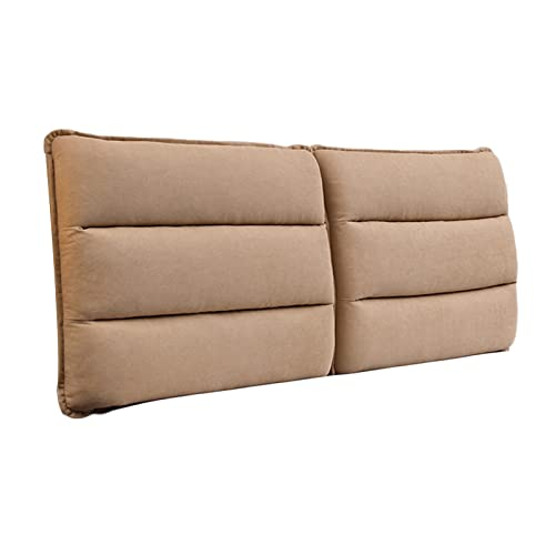 Headboard Cushion, Wedge Pillows Bed Backrest, Fluffy Soft Case Reading Pillow Washable for Home Bedroom, Custom Size, 8 Color, 7 Size PENGFEI (Color : Light Brown, Size : 180cmx60cmx10cm)