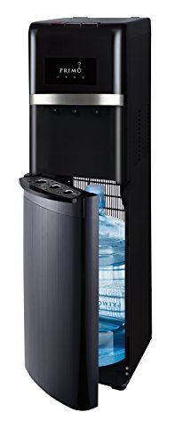 Primo - Easy Bottom Loading Water Dispenser - Black - For 3 or 5 Gallon Jugs - Instant Cold, Cool and Hot Water for Beverages, Soups or Oatmeal