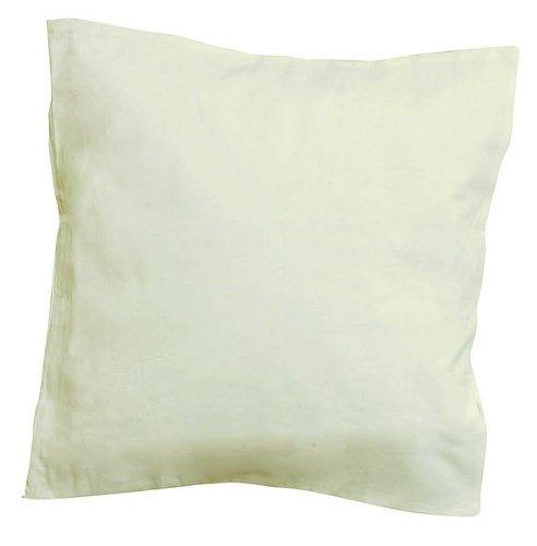 Javana 5 x Kissenhülle Creme weiß 40 x 40 cm, Kissenbezug, Kissenhülle zum Bemalen