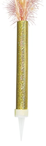 Unique Party 37417 - Prism Gold Fountain Candles, Pack of 2