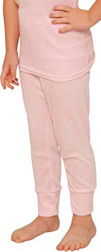 Octave® Thermounterwäsche für Mädchen: Lange Unterhose/Lange Unterwäsche (3-5 Jahre [Taillenumfang: 20.5 Zoll], Rosa)
