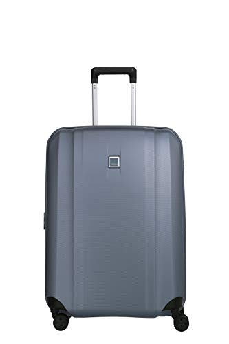 TITAN 4-Rad Koffer mittlere Größe mit Dehnfalte + TSA Schloss, Gepäck Serie XENON: Kratzfeste Hartschalen Trolleys, 849405-25, 67 cm, 76 Liter (erweiterbar auf 87 Liter), bluestone (blau)