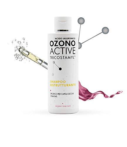 Ylatì Ozono Active Champú reestructurante con ácido hialurónico para cabello seco, dañado y tratado, 150 ml