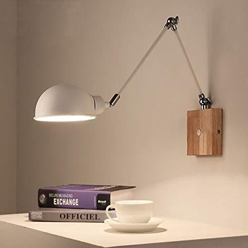 WWFF Lámpara De Pared del Norte De Europa Dormitorio Cálido De Noche Luz Creativa Simple Individualidad Sala Macaron Lámpara De Pared (Color: Blanco)