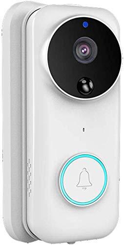 Sonnette vidéo sans fil 170 °, sonnette sans fil Wifi intelligente, interphone visuel 720P basse consommation, conversation bidirectionnelle, caméra vision nocturne infrarouge, détection mouvement