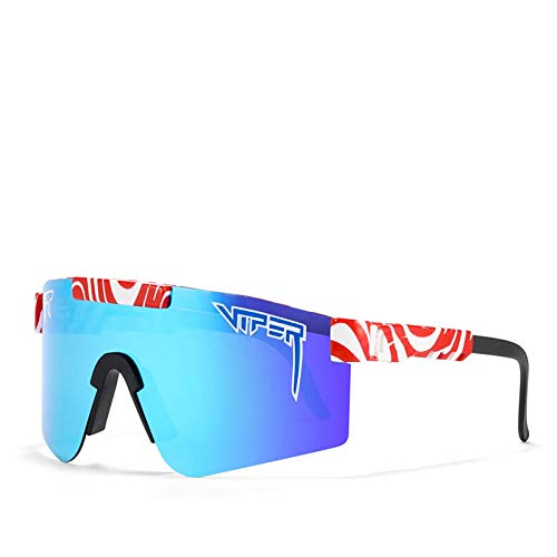 BGRFT Pit Viper Gafas de sol polarizadas de doble ancho con espejo azul Lente Tr90 Marco Uv400 Protección Ciclismo Gafas de sol deportivas C21