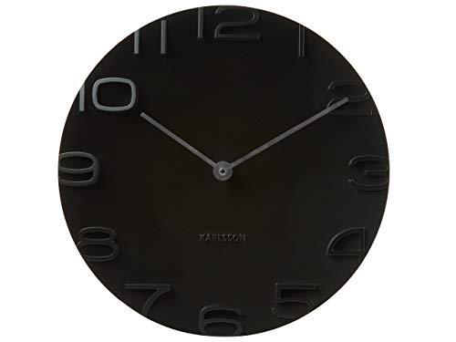 Karlsson On The Edge horloge, wandklok, kunststof, zwart, één maat
