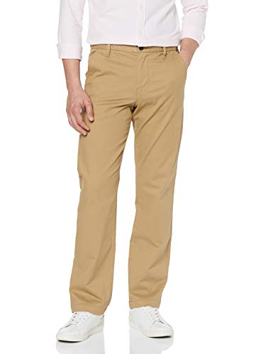 Amazon-Marke: MERAKI Herren Baumwoll Regular Fit Chino Hose, Beige (Beige), 32W / 34L, Label: 32W / 34L