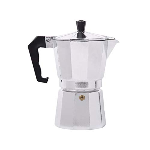 A Stovetop Moka Pot Coffee Maker By IvyKite - Best For Making 3 Cup Italian Espresso Or Moka Coffee Through A Percolator Mechanism Brewing Espresso Or Mokka Over The Stove Top