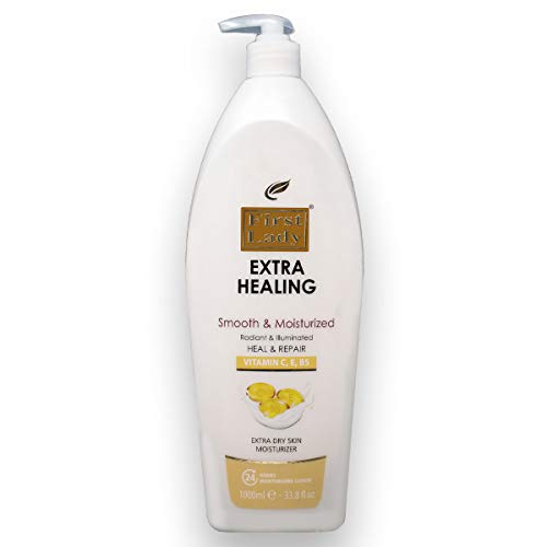 First Lady Extra Healing Vitamin C, E & B5 Moisturizing Hand & Body Lotion 1000ml - Extra Dry Skin